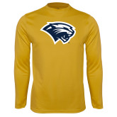 Syntrel Performance Gold Longsleeve Shirt-Cougar Head