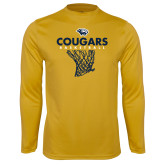 Syntrel Performance Gold Longsleeve Shirt-Basketball