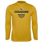 Syntrel Performance Gold Longsleeve Shirt-Basketball