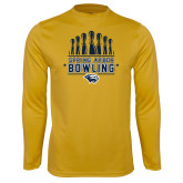 Syntrel Performance Gold Longsleeve Shirt-Bowling