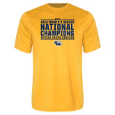Performance Gold Tee-Cougar Womens Soccer Champions