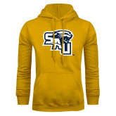 Gold Fleece Hoodie-SAU stepped with Cougar Head