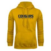 Gold Fleece Hoodie-Cougars Athletics