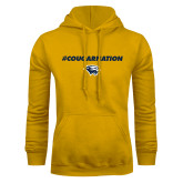 Gold Fleece Hoodie-Cougar Nation
