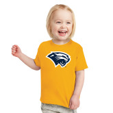 Toddler Gold T Shirt-Cougar Head