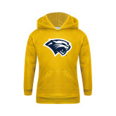 Youth Gold Fleece Hoodie-Cougar Head