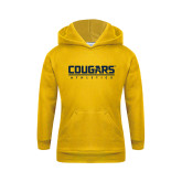 Youth Gold Fleece Hood-Cougars Athletics