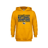 Youth Gold Fleece Hoodie-Cougar Womens Soccer Champions