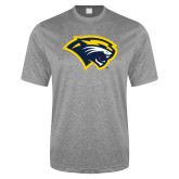 Performance Grey Heather Contender Tee-Cougar Head