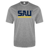 Performance Grey Heather Contender Tee-SAU