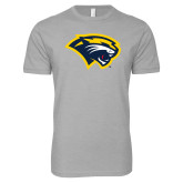 Next Level SoftStyle Heather Grey T Shirt-Cougar Head