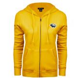ENZA Ladies Gold Fleece Full Zip Hoodie-Cougar Head