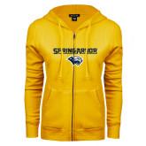 ENZA Ladies Gold Fleece Full Zip Hoodie-Spring Arbor with Head