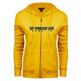 ENZA Ladies Gold Fleece Full Zip Hoodie-Bowling