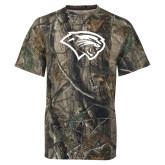 Realtree Camo T Shirt-Cougar Head