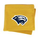 Gold Sweatshirt Blanket-Cougar Head