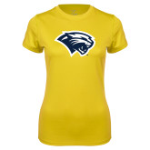 Ladies Syntrel Performance Gold Tee-Cougar Head