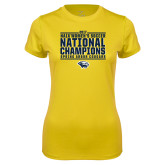 Ladies Syntrel Performance Gold Tee-Cougar Womens Soccer Champions