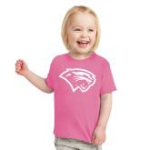 Toddler Fuchsia T Shirt-Cougar Head