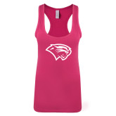 Next Level Ladies Raspberry Ideal Racerback Tank-Cougar Head
