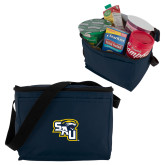 Six Pack Navy Cooler-SAU stepped with Cougar Head
