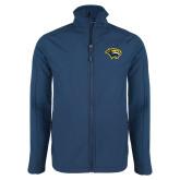 Navy Softshell Jacket-Cougar Head