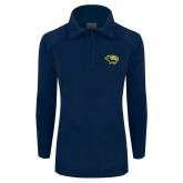 Columbia Ladies Half Zip Navy Fleece Jacket-Cougar Head