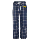 Navy/White Flannel Pajama Pant-Cougar Head
