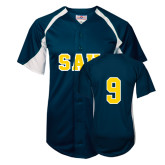 Replica Navy Adult Baseball Jersey-#9