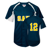Replica Navy Adult Baseball Jersey-#12