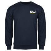 Navy Fleece Crew-SAU