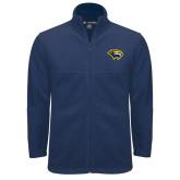 Fleece Full Zip Navy Jacket-Cougar Head