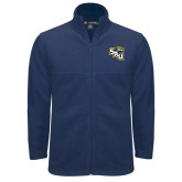 Fleece Full Zip Navy Jacket-SAU stepped with Cougar Head