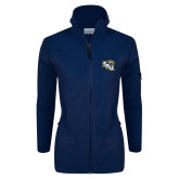 Columbia Ladies Full Zip Navy Fleece Jacket-SAU stepped with Cougar Head