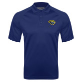 Navy Textured Saddle Shoulder Polo-Cougar Head
