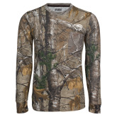 Realtree Camo Long Sleeve T Shirt w/Pocket-Cougar Head