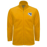 Fleece Full Zip Gold Jacket-SAU stepped with Cougar Head