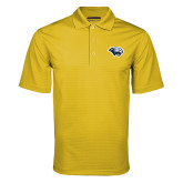 Gold Mini Stripe Polo-Cougar Head