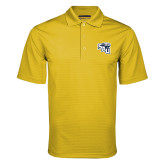 Gold Mini Stripe Polo-SAU stepped with Cougar Head