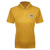 Ladies Gold Dry Mesh Polo-SAU stepped with Cougar Head