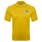 Gold Textured Saddle Shoulder Polo-SAU stepped with Cougar Head