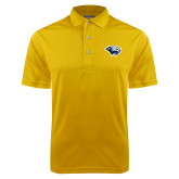 Gold Dry Mesh Polo-Cougar Head