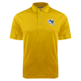 Gold Dry Mesh Polo-SAU stepped with Cougar Head