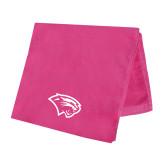 Pink Beach Towel-Cougar Head