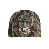 Mossy Oak Camo Fleece Beanie-Cougar Head