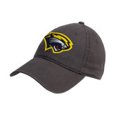 Charcoal Twill Unstructured Low Profile Hat-Cougar Head