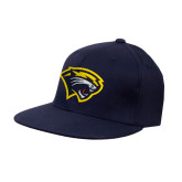 Navy OttoFlex Flat Bill Pro Style Hat-Cougar Head