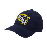 Navy OttoFlex Unstructured Low Profile Hat-SAU stepped with Cougar Head
