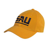 Gold Twill Unstructured Low Profile Hat-SAU