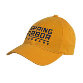 Gold Twill Unstructured Low Profile Hat-Spring Arbor Cougars Stacked